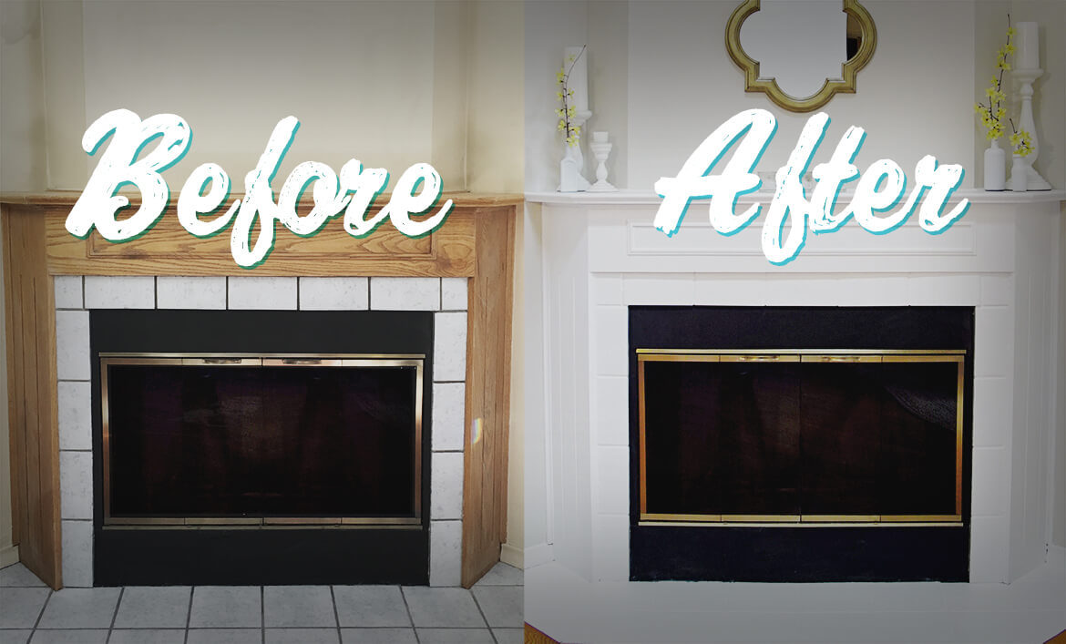 Easy Fireplace Makeover For Under 50