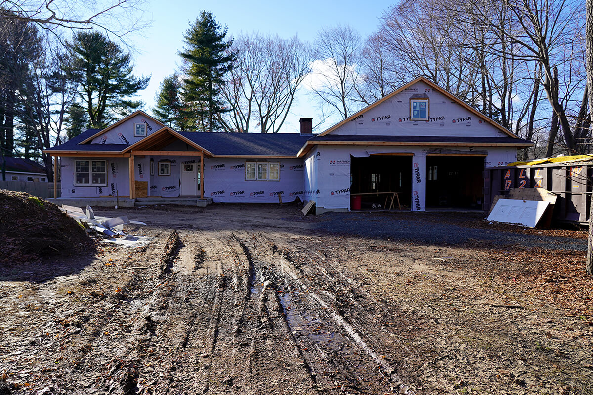Connecticut Ranch House Remodel Update 2 Exterior Is Taking Shape