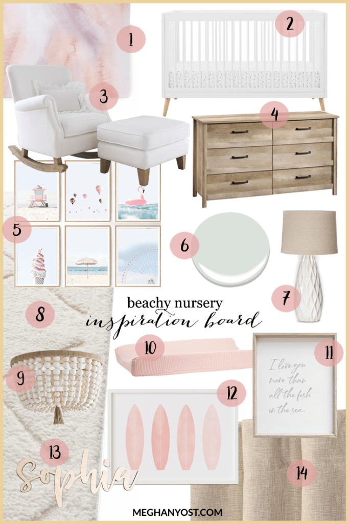 beachy nursery inspiration board